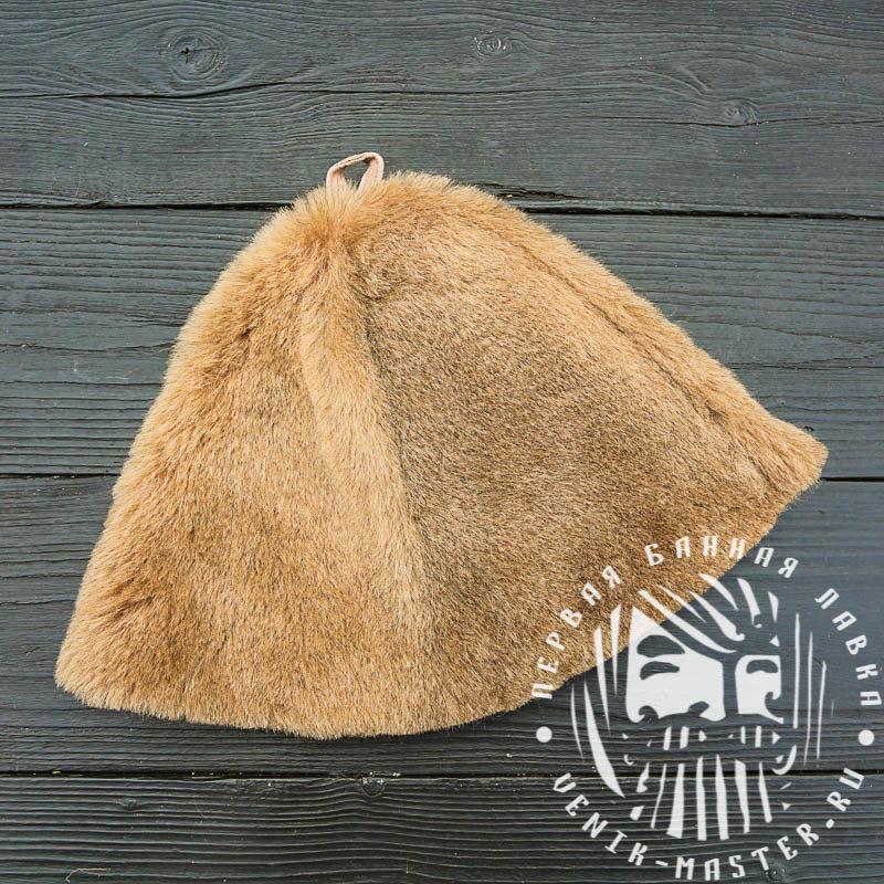 Меховая шапка для бани
